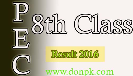 Punjab Education Commission 8th Class Result 2016