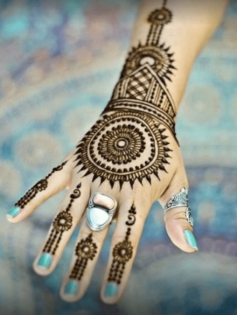 Simple Mehndi Designs For Hands Collection 2016