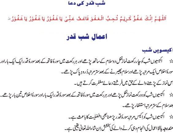 shab e qadar ki ibadat nawafil on this page.