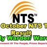 Prison Department Warder NTS Test Result 16 October 2016