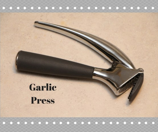 Garlic Press - One of the must-have Kitchen gadgets for any cook!