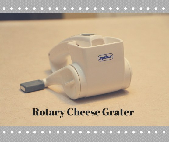 One of my favorite kitchen gadgets, the Rotary Cheese Grater