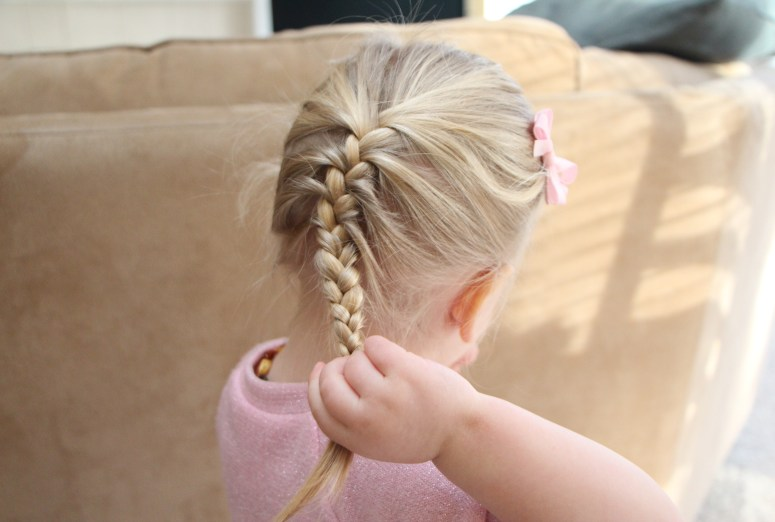 french braid little girl hair styles