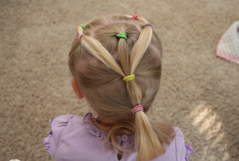 Hair Styles For Little Girls That Actually Stay In! - Multiple Ponytail look