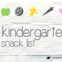Kindergarten Snack List