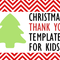 Christmas Thank You Template for Kids