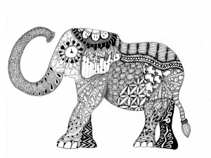 zentangle-elephant