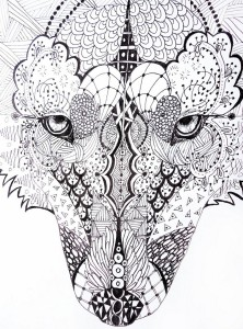 zentangle_wolf_by_lupinemoonfeather-d3k9sx4