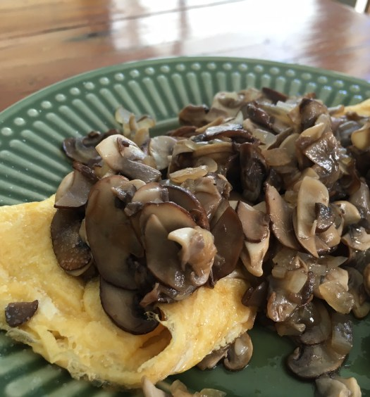 Omelete com cogumelos