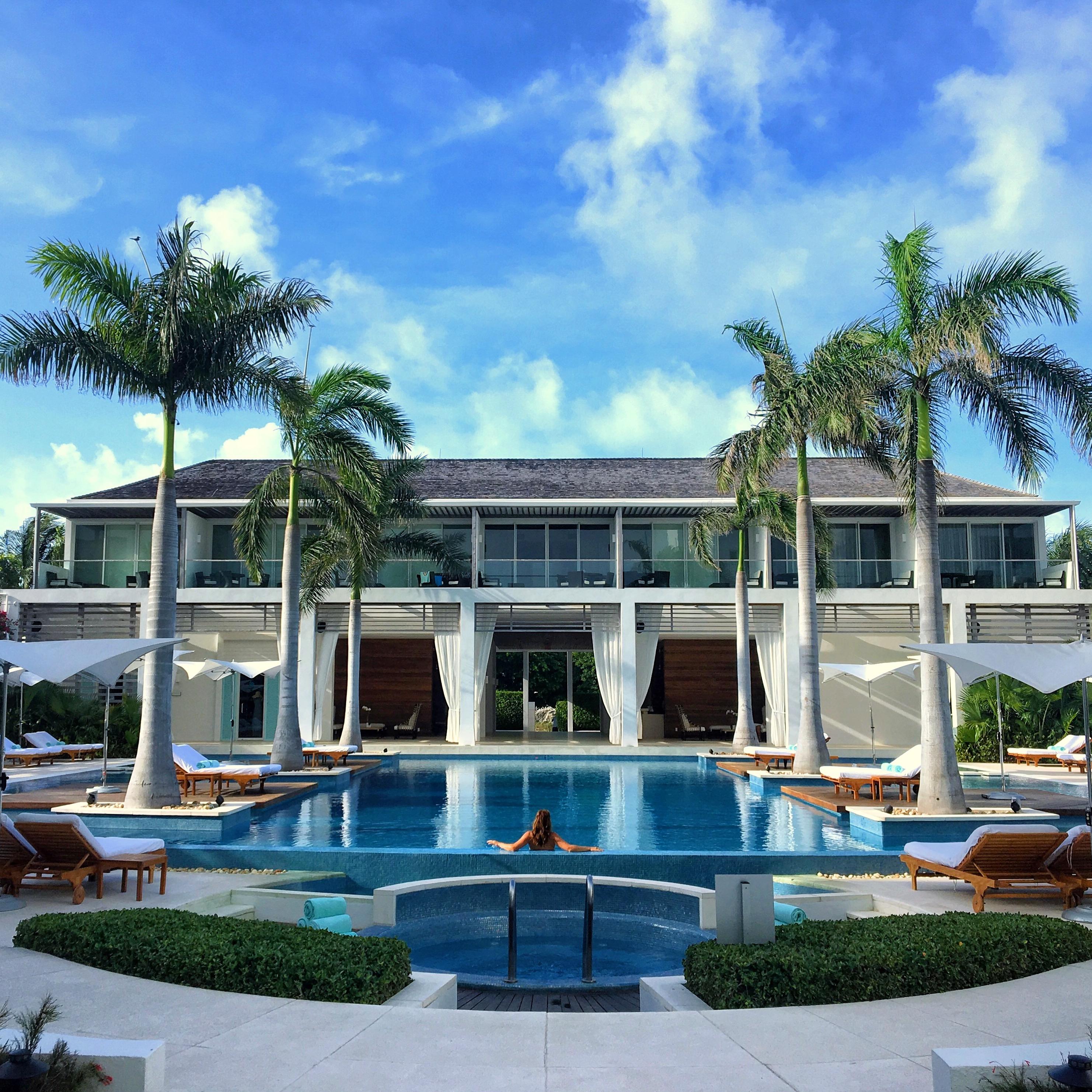 A piscina mais linda da ilha