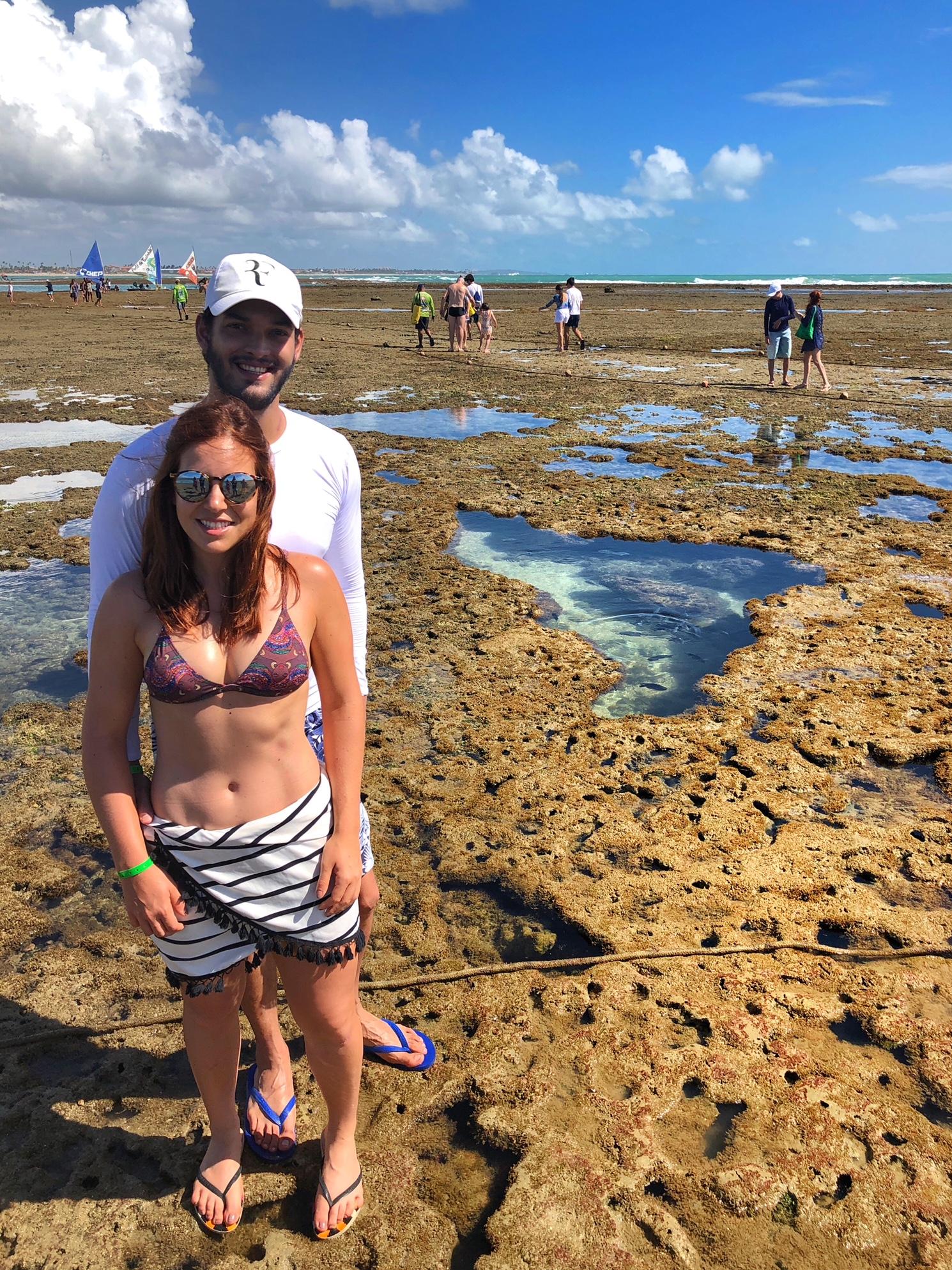 Andando pelos corais