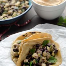 These spicy zucchini and black bean tacos are delicious, protein packed, and very easy to make.