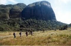 Final da Travessia, ao fundo, Face Sul do Pico do Papagaio