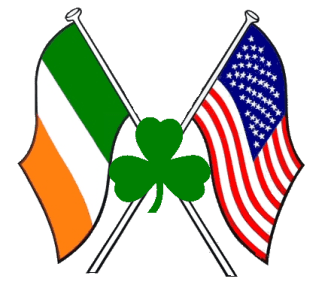 american flag and irish shamrock