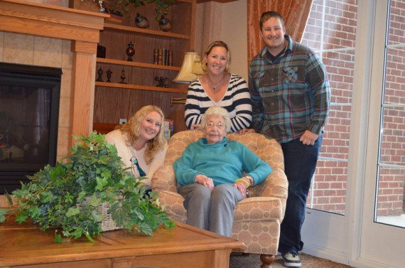 Alyssa, April and Tommy with their Grandma