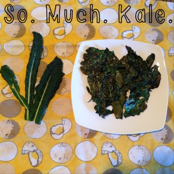 I've been nomming on my garden grown Kale ... carb-free!