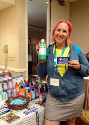 I was excited because this photo was tweeted by the awesome Trish at Dr. Bronners!
