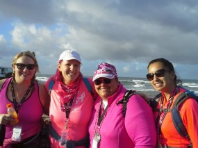 Double Chin Divas at the ocean!