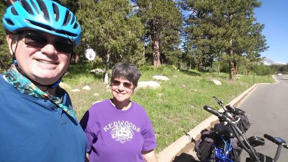 A great selfie of Patrick and Mary and the bikes!