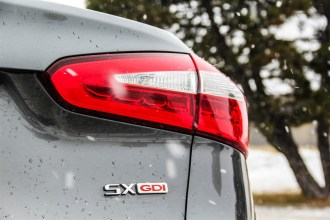 2014 Kia Forté SX Sedan taillight/emblem
