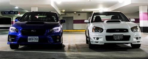 2015 Subaru WRX Sport with previous generation