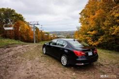 First Drive: 2015 Acura RLX Sport Hybrid ski slope 1