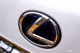 2015 Lexus RX450h SportDesign blue hybrid emblem