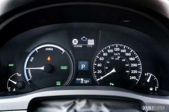 2015 Lexus RX450h SportDesign instrument cluster