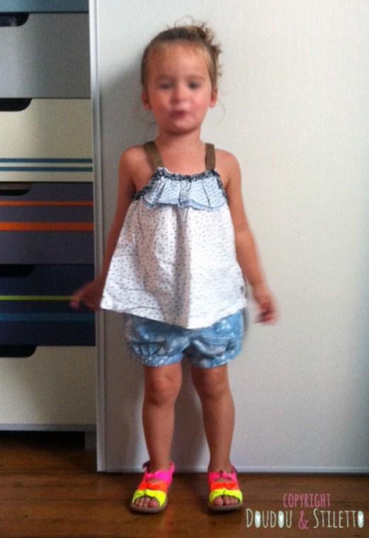 Top IKKS kids, short Zara, sandales Pom d'Api