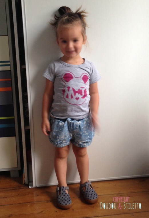 T-shirt Little Marc Jacobs, chaussures Pom d'Api, short  Zara