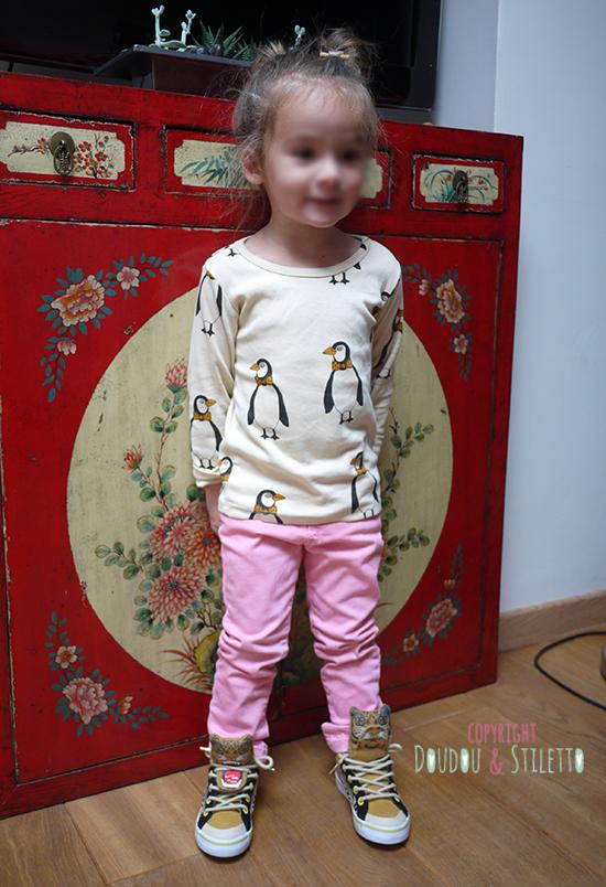 T-shirt Mini Rodini, Jean Zara, Chaussures Feiyue x Milk on the rocks