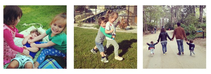 Les pique nuques de 2014 avec mon frère et sa Chéri, ma copine Home Sweet Mômes et sa famille…