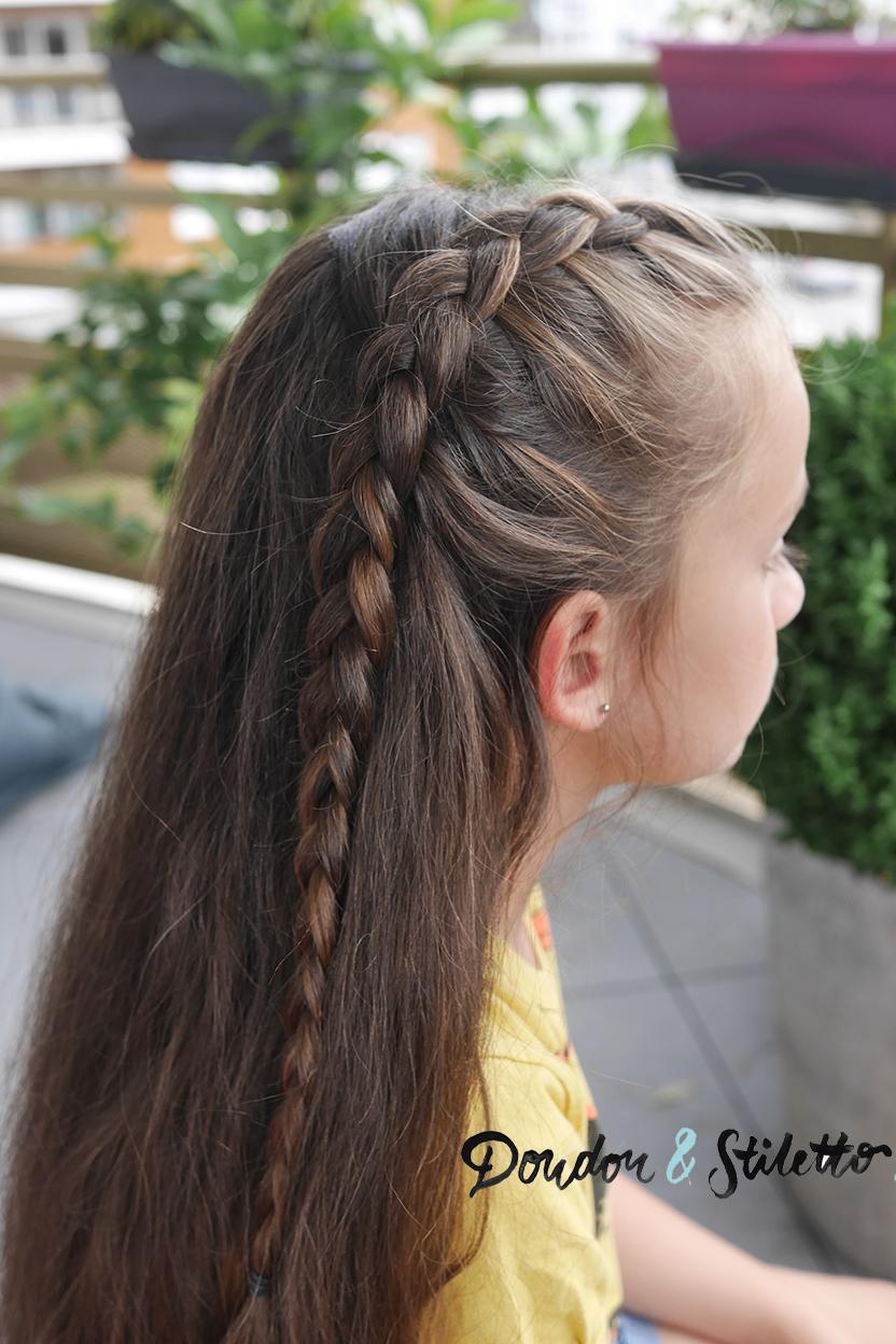 Tuto coiffure une tresse sur cheveux l ch s - Image de tresse ...