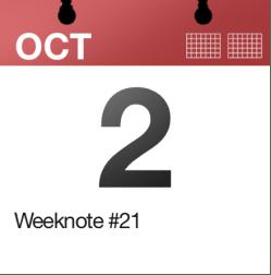 Weeknote #21