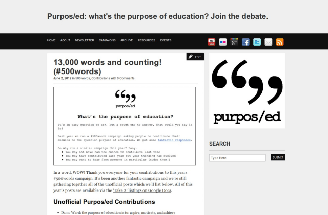 Purpos/ed #500words Take 2