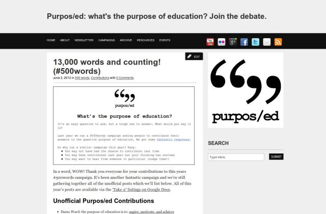 Purpos/ed #500words Take 2