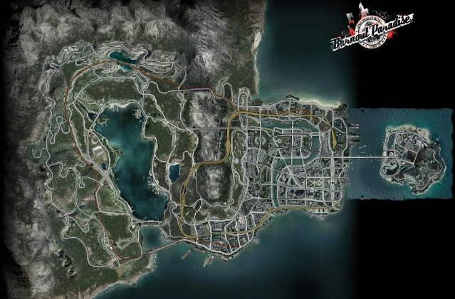 Burnout Paradise - map