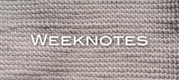 weeknotes