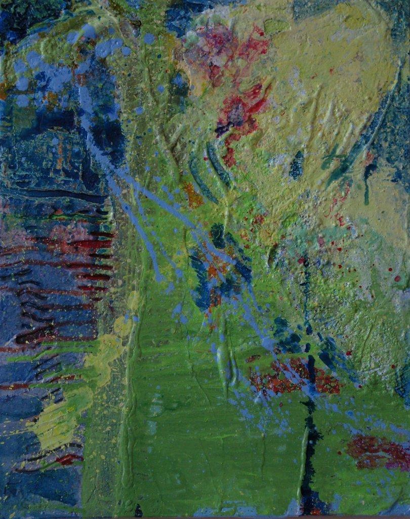 Yellow Bursts, 2016, mixed media, 20x16