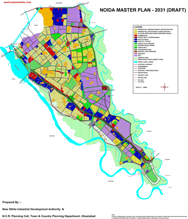 Noida Master Development Plan 2031 Map