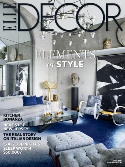 Elle Decor USA - 04.2018 » Download PDF magazines - Magazines Commumity!
