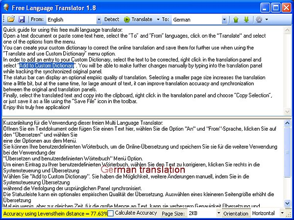 Free Language Translator 3.8.0.0 Stable