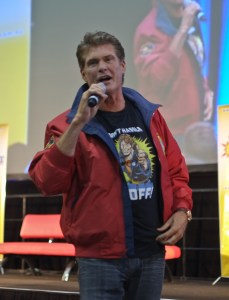 David Hasselhoff at Supanova in Sydney, Austraiia.