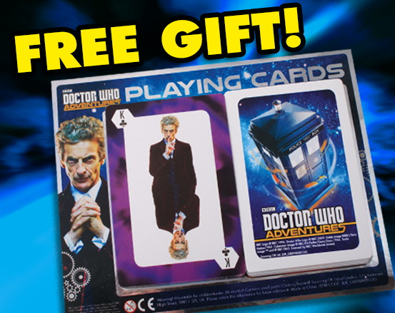 Doctor Who Adventures Issue 20's free gift is some Wh-themed playing cards