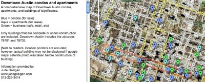 udpated map of Downtown Austin buildings