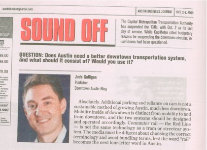 ABJ 'Sound Off' on the topic of rail in Austin