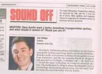 """Sound Off"" From Austin Business Journal"