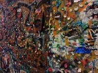 gum wall, up close