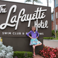 Swim Time at The Lafayette Hotel with SD's Youngest Foodie