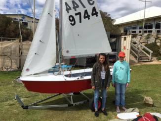 Ella Konings and Amy Short will sail Wilson this season, the newest international cadet in the SA fleet.